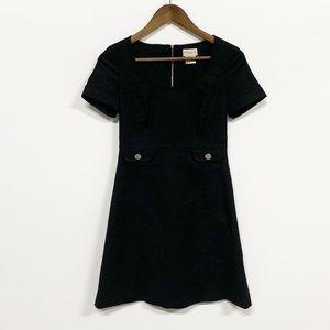 Karen Millen | Black Short Sleeve Zip-up Dress 4